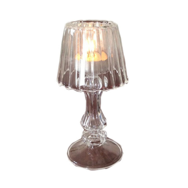Small Table Lamp Crystal Glass Candlestick Wedding Props Gift ...