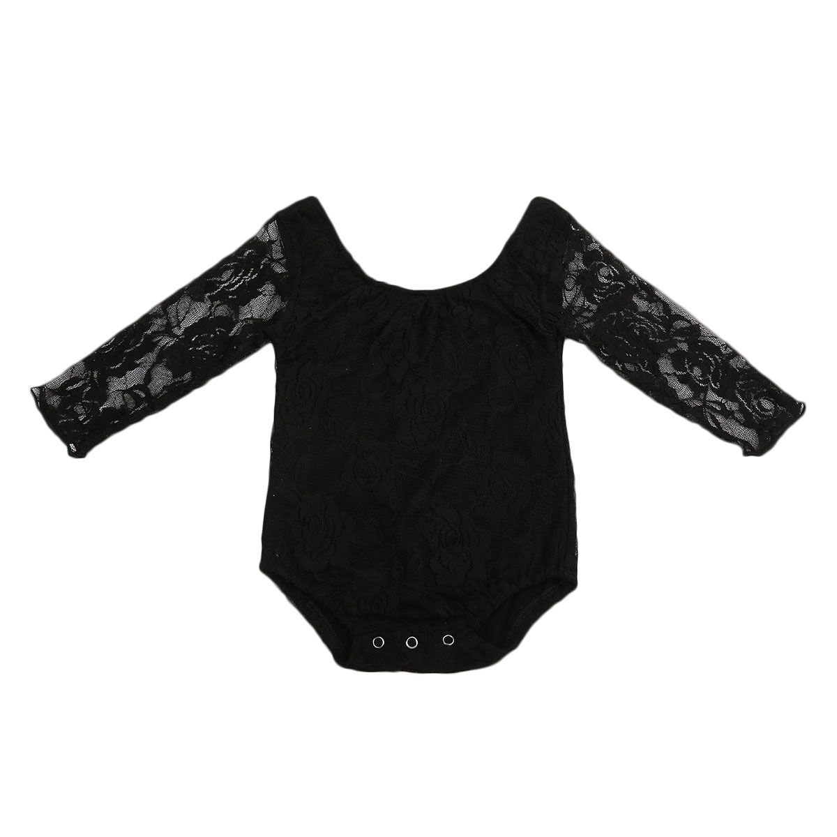 Summer Lace Rompers Cute Newborn Jumpsuit Infant Toddler Baby Girl Romper Long Sleeve O-Neck Jumper Kids Girls Clothes Outfits