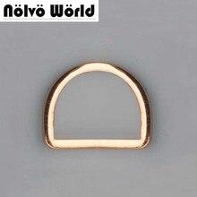 25 мм 1 дюймов внутри ширина сварная d-образное кольцо Пряжка на ремешке, сплав цинка аппаратных Золотой металлический жировой D-кольцо, 20 шт. для суда