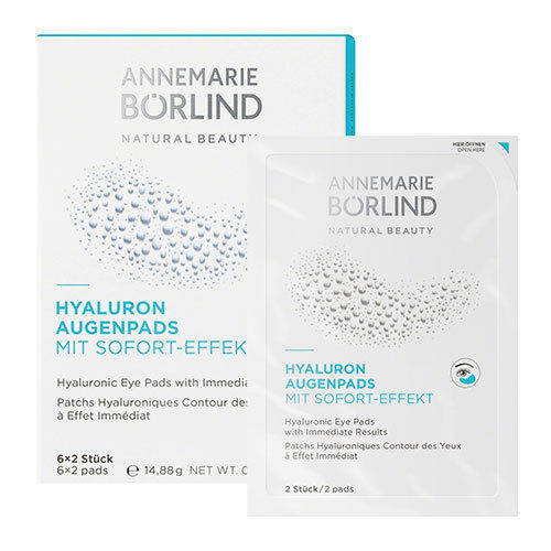 Annemarie Borlind: Hyaluron Augenpads (6x2Stck) annemarie borlind тени для век светло розовый annemarie borlind makeup light rose 48 150948 2 г