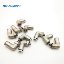 Free Shipping 10 Pcs / Lot PLP All Brass Body With Plastic Sleeve Push - In Fitting Pneumatic Pipe High Quality Sanmin