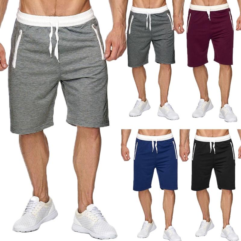 INCERUN 2018 Summer Casual Leisure Men Knee Length Shorts Color Patchwork Joggers Short Sweatpants Trousers Men's Bermuda Shorts