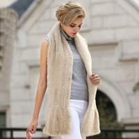 Hot sale Real Mink Fur Scarf Women Knitted Natural Mink Fur Scarves Fashion Knitted Mink Fur Scarf For Women in winter Shawl