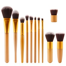 New Eyeshadow Foundation Concealer Bamboo Handle Makeup Brushes Cosmetic Tool 11pcs/set LM93