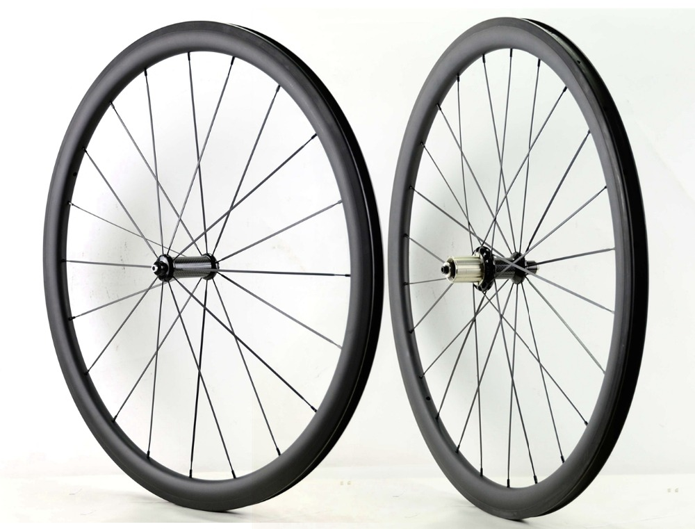 1490g 700C 38mm depth carbon wheels 23mm width Road bike clincher tubular carbon fiber super light