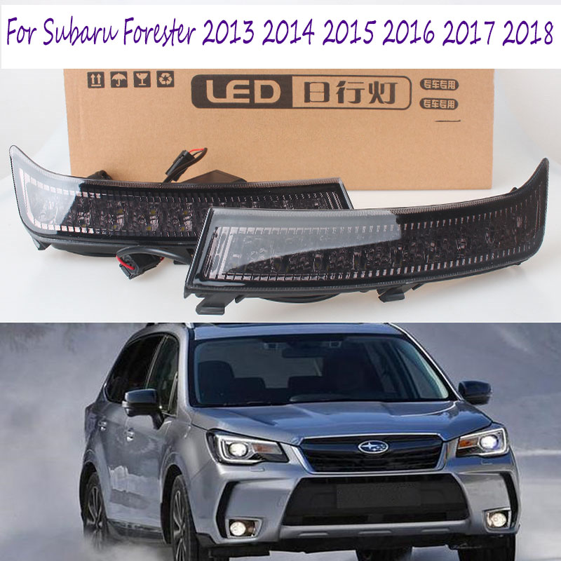 2Pcs DRL LED Daylight Fog Lamp For Subaru Forester 2013 2014 2015 2016 2017 2018 LED DRL Daytime Running Lights Signal Lamps-in Car Light Assembly from Automobiles & Motorcycles    1