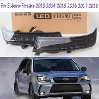 2Pcs DRL LED Daylight Fog Lamp For Subaru Forester 2013 2014 2015 2016 2017 2018 LED DRL Daytime Running Lights Signal Lamps
