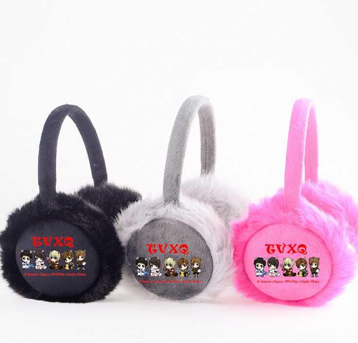 ⊰Invierno unisex Kpop TVXQ dibujos orejeras suave orejeras moda ...