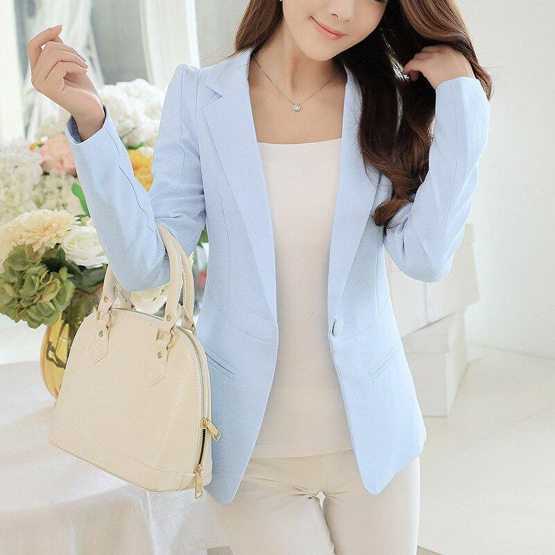 SUMCHEN Ladies Blazer  Long Sleeve Blaser Women Suit jacket Female Feminine Blazer Femme Pink Blue White Black Blazer Autumn