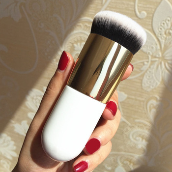 New Chubby Pier Foundation Brush Flat Cream Makeup Brushes Professional  2