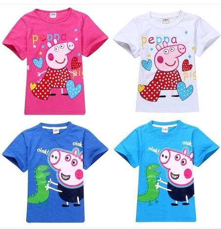 eb2b4ea8c Peppa pig clothing New arrivals 2015 child nova kids girl peppa pig  children t shirts kids girl t shirt boys clothes 5pcs/lot