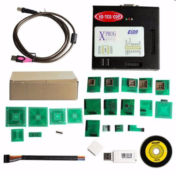 Latest Version X-PROG V5.60 ECU Programmer XPROG-M with Full Set Adapters XPROG V5.6 X-PROG 5.60 with USB Dongle