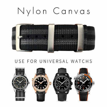 Sports Nylon Watchband Universal Watch Strap for Omega Hamilton Seamaster Calibre Bracelets Accessories 20mm 22mm Zulu Nato 007 - DISCOUNT ITEM  5% OFF All Category