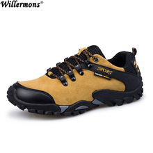 Men s Casual Low Breathable Outdoor Genuine Leather Hiking Boots Men Army Combat Trekking Boots Botas