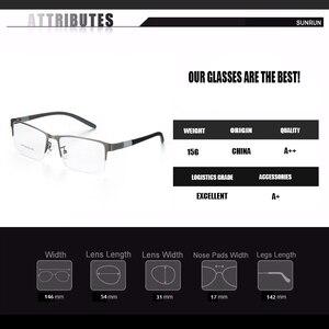 Image 2 - Eyewear סגסוגת משקפיים מסגרת גברים משקפיים אופטיים מרשם משקפיים זכר מחזה לגבר Eyewear