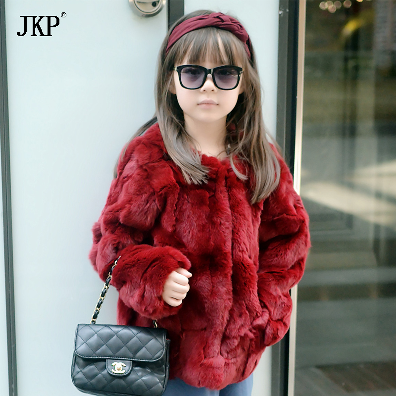 JKP 2018 New Winter Luxury Rex rabbit fur children fur coats boy and girl cotton fashion children's clothing fur Jackets CT-19 winter kids rex rabbit fur coats children warm girls rabbit fur jackets fashion thick outerwear clothes