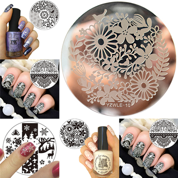 Rose Flower Nail Art Stamp Template Flower Mandala Butterfly Image Plate Nail Stamping Plate Manicure Tools недорого