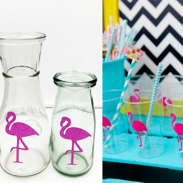 100pcs paper stickers glitter paper confetti party decoration flamingo decor