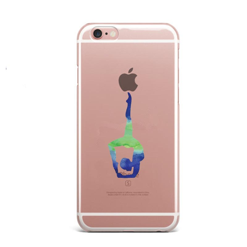 Watercolor Prince Cat Yoga Sports Girl Soft Silicone TPU Phone Case Cover For Iphone 5S 6S 6Plus SE 7 XS Max XR 8 8Plus X 10