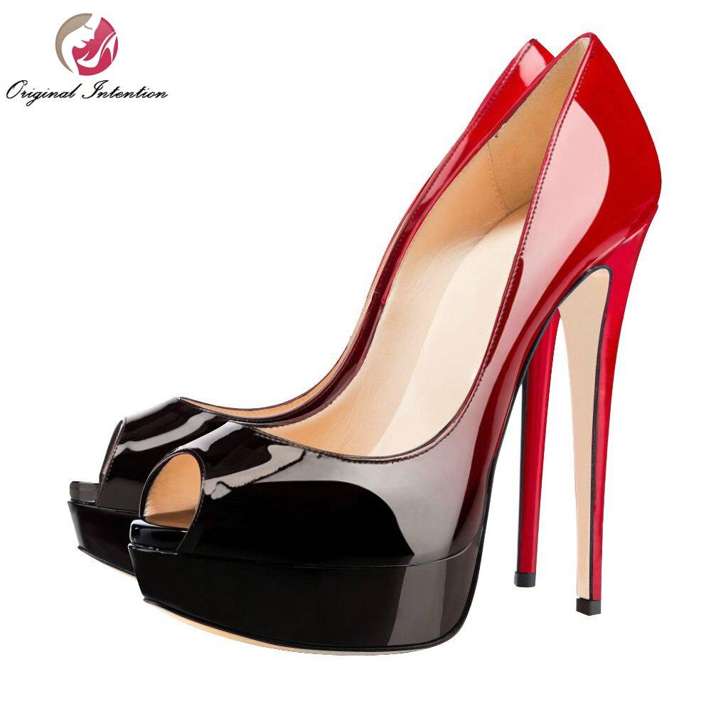 Plus L'intention Taille Gradient Mode Toe Femme Talons Chaussures Qualité Initiale Xy4981 La Belle Minces Haute De Pompes Populaire Femmes Peep rfwgUnraS