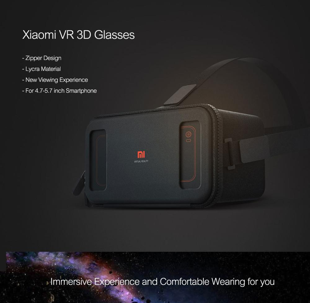 Xiaomi VR box 3D Virtual Reality Glasses cardboard MI VR apply to apple iphone sumsang meizu 4.7~5.7 Smartphone