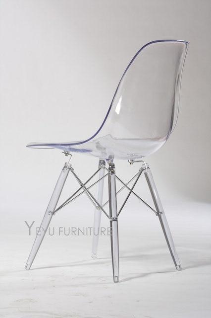 minimaliste moderne design transparent acrylique en plastique ct salle manger chaise design de mode cristal chaise moderne meubles de maison - Chaise Design Plastique