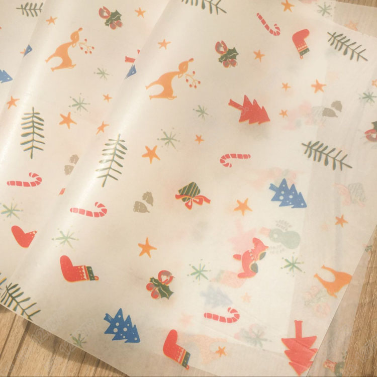 100 stücke 25x35 cm Weihnachten wachspapier für sandwich hamburger ...