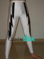 ZentaiHero Custom Size Dress Up Fancy Pants In Lycra Spandex Sexy White And Black Wrestling Pants