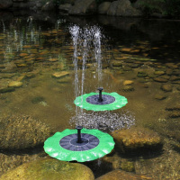Creative Lotus Solar Powered Garden Bird baths birth feeder house fountain Pump For Pool Garden Aquarium