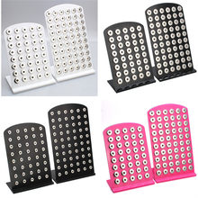 New Snap Button Jewelry White Acrylic Snap Display For 40PCS &60PCS 12MM 18MM Stands Display Detachable Set ZK003(China)