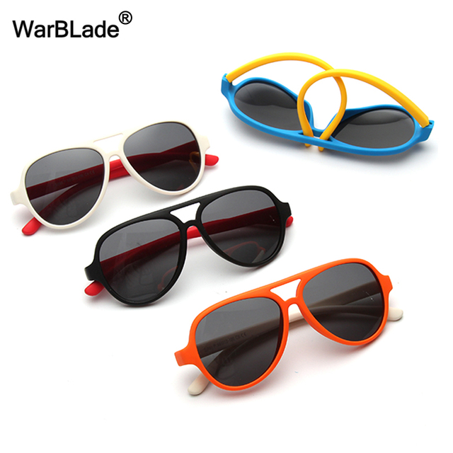 7bd59ceaea5a Polarized Kids Sunglasses TAC TR90 Pilot Soft Frame Baby Boys Girl Sun  Glasses UV400 Child Children Outdoor Goggle WarBLade