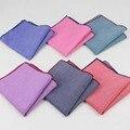 Pañuelos de Bolsillo de Los Hombres pañuelo Bufandas Vintage Como el Lino Square Pañuelos Sólidos Color23 * 23 cm