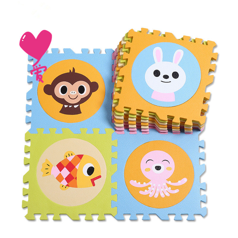 free shipping 18pcs with fence baby play puzzle eva foam mat,pad floor for baby games 30*30*1.3cm baby toy