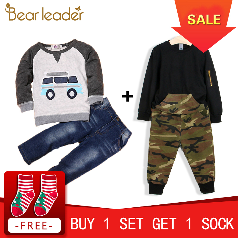 Bear Leader Autumn Children Boys Clothes Sets Long Sleeve T-shirt+Jeans 2pcs Kids Suits Cartoon Car Pattern Boys Clothing Sets bear leader autumn children boys clothes sets long sleeve t shirt jeans 2pcs kids suits cartoon car pattern boys clothing sets