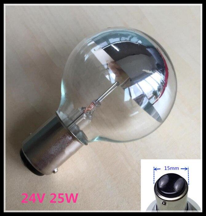 Wy 24v 25w Medizinische schatten lampe birne Einfügen taste Single loch kalt licht lampe Chirurgische glühbirnen ba15d 15mm basis 24V 25W