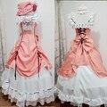 Kuroshitsuji Ciel Phantomhive Cosplay del Anime manga Fancy Dress Lolita Mujeres Negro Mayordomo Ciel Phantomhive traje de Mucama