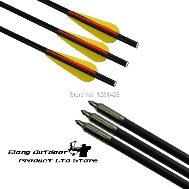 14 16 Fiberglass Crossbow Bolt 8045 Flat Nock Fixed Field Point for Hunting Archery Bow  ...