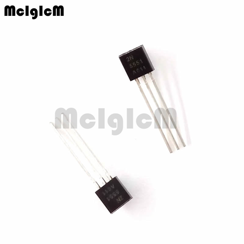 MCIGICM 100pcs 2N5551 TO-92 NPN General Purpose Amplifier 0.6A 160V NPN Original New