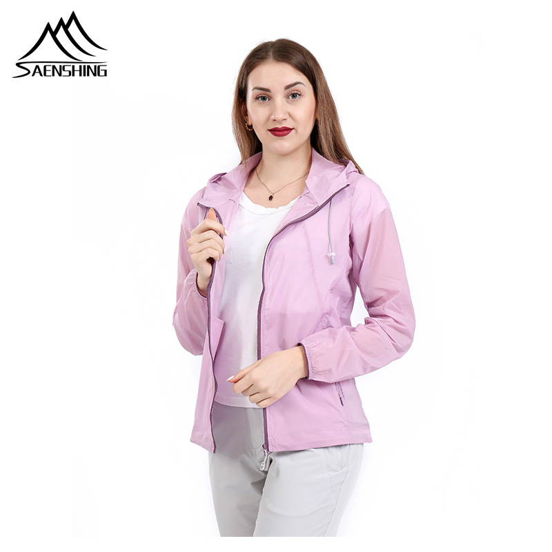 SAENSHING Women Skin Jackets Quick Dry Waterproof Anti-UV Coats Outdoor Sports Clothing Camping Hiking Sun Protection Jacket(China)