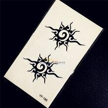 1PC Hot Indian Totem Designs Men Body Art Painting Temporary Tattoo Stickers HYF185 Sun Pattern Armband Flash Black Tattoo Paste