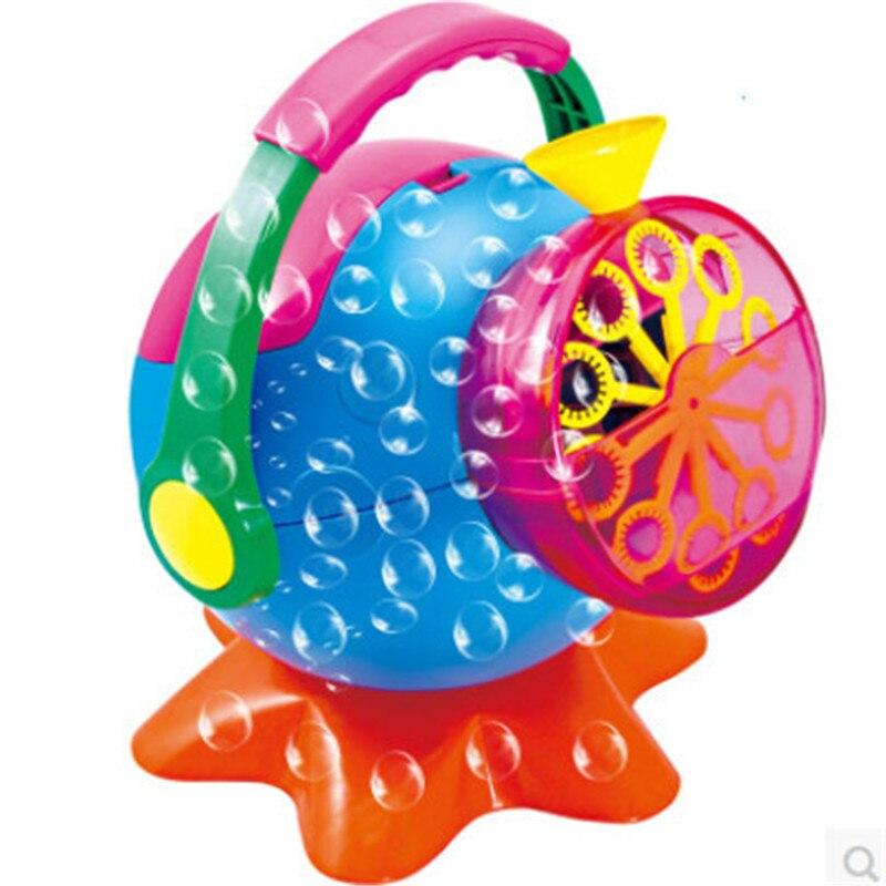 Jouets extérieurs de souffleur de bulle de Machine de bulle de savon pour des enfants, jouet en plastique créatif de fabricant de bulle d'abs jouet automatique de bébé de pistolet à bulles