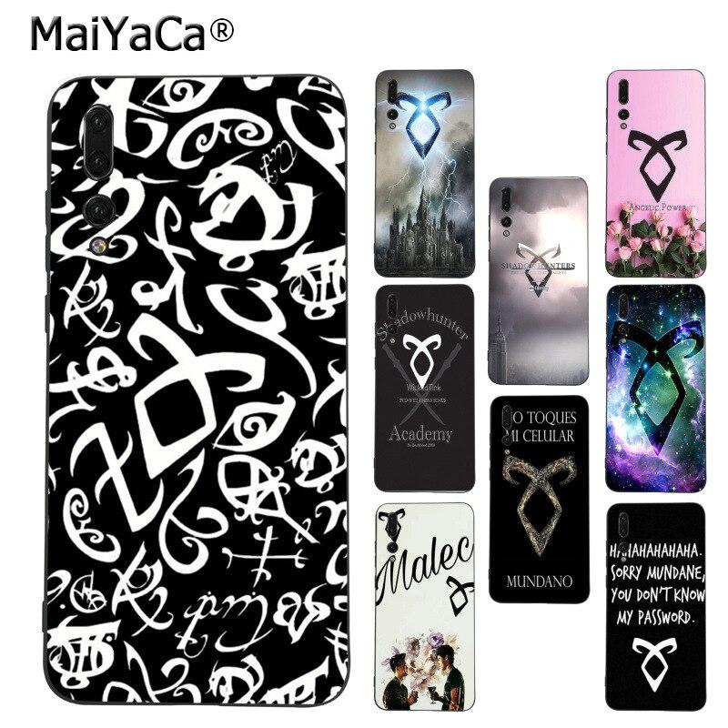 Galleria fotografica MaiYaCa shadowhunters Stampa Disegno del telefono di protezione Della Copertura di Caso per Huawei p20 mate9 mate10 lite P10 <font><b>honor</b></font> <font><b>view</b></font> copertura della cassa 9