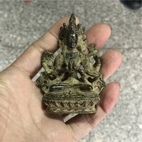 Free delivery of antique bronze Huang copper Buddha in Tibetan Buddhist spiritual small ornaments of old objects
