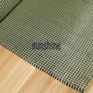 Image 3 - 185gsm Carbon Aramid Fiber Hybrid Fabric Plain woven  I shaped Square Fabric Yellow