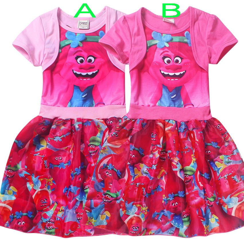 Kids Dress Summer Short-sleeved Dress party Stitching Girl Party Dresses  Teenage Clothes Clothes For Children 4-10 Years
