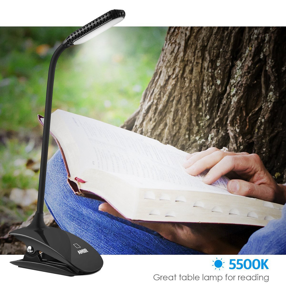 Dedicated Reading Light Flexible Desk Reading Lamp With Switch 3 Levels Brightness Eye-care Perfect For Bookworms & Kids L0926 Easy To Use Book Lights