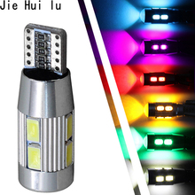1Pcs W5W 10 led 5630 5730 SMD Projector Lens Marker Light Lamp Bulb auto Clearance tail Lights T10 CAR Wedge