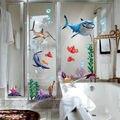 2016 Nuevo Bajo Los Fondos Marinos NEMO Peces Tiburón 3D Etiqueta de La Pared de Dibujos Animados Impermeable Vinilo Tatuajes de Pared Extraíble Baño Vivero Habitación de Los Niños