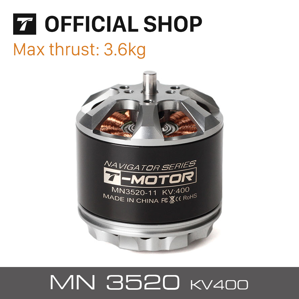 T-motor Outrunner Brushless Motor Special Design MN3520 400KV for Multicopter UAV RC Drones Copter Quadcopter t motor special designed p80 100kv of p series motor for agriculture multicopter uav drones