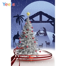 Yeele Merry Christmas Party Glitter Tree Customized Photography Backdrop Personalized Photographic Backgrounds For Photo Studio